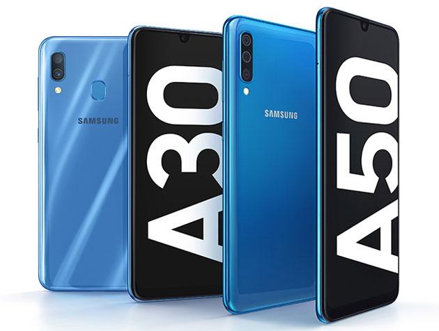 Samsung Galaxy A30 e A50 ufficiali con ampia batteria e Display Infinity-U