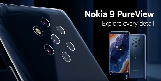 Foto Nokia 9 PureView con 5 fotocamere posteriori: Specifiche, Foto, Video e Prezzo in Italia