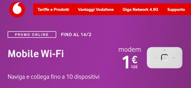 Vodafone Mobile Wi-Fi R216h a 1 euro con le offerte Giga fino a San Valentino