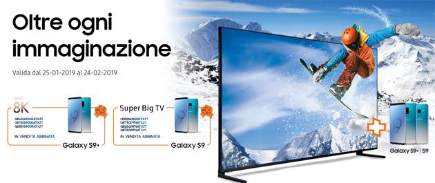 Samsung Galaxy S9 o S9+ gratis con un TV Samsung: la promozione