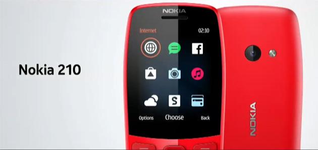 Nokia 210, telefono semplice con accesso a Internet, Facebook e giochi