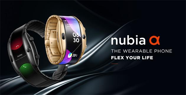 Nubia Alpha, smartphone indossabile come un orologio grazie al display flessibile