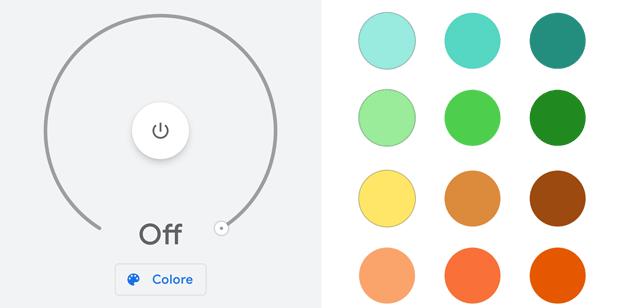 Google Home, come cambiare il colore delle luci intelligenti in-app