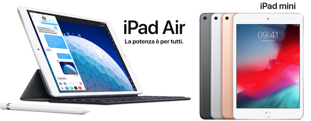 Apple lancia nuovi iPad Air e iPad mini 2019 con supporto Apple Pencil, chip A12 Bionic, Advanced Retina Display