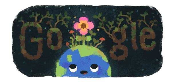 Google Doodle per il Primo giorno di Primavera 2019