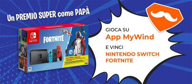 Foto Wind regala Nintendo Switch Fortnite