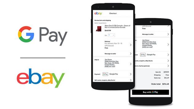 eBay consente di pagare con Google Pay su app Android e Web