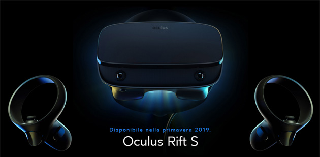 Oculus Rift S, nuovo visore VR per PC in arrrivo questa primavera