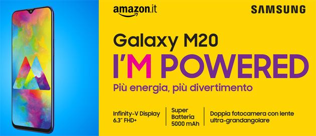 Samsung Galaxy M20 in Italia, smartphone con batteria da 5000mAh per i millennial