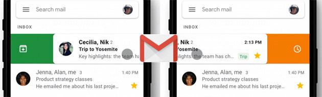 Gmail su iOS fa ora personalizzare le azioni di scorrimento
