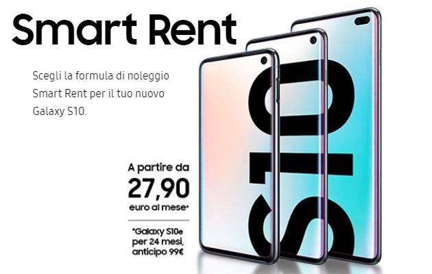 Samsung Smart Rent, Galaxy nuovo ogni anno a noleggio. S10 in listino
