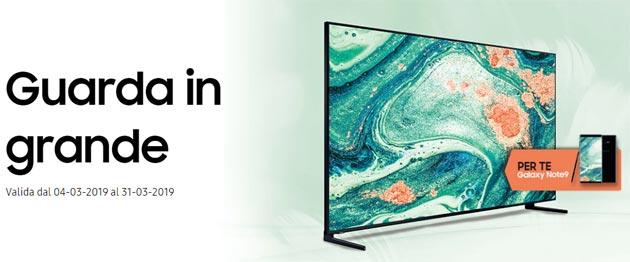 Samsung Galaxy Note9 in regalo con un TV Samsung 8K o Super Big TV