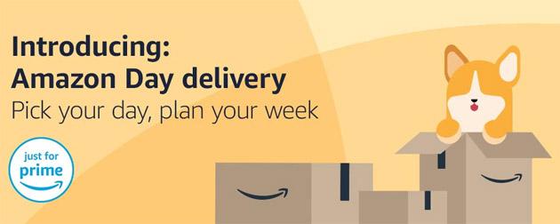 Amazon Day, nuovo servizio che fa scegliere il giorno di consegna negli USA