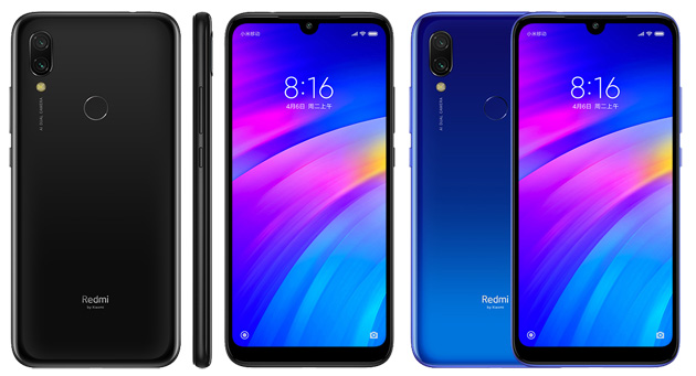 Foto Redmi 7 ufficiale con display 6,26 con notch, chip octa-core, fino a 4GB di RAM