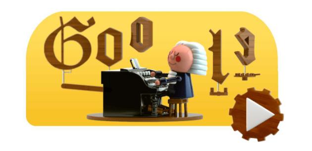 Google doodle in onore di Johann Sebastian Bach, primo Doodle con IA