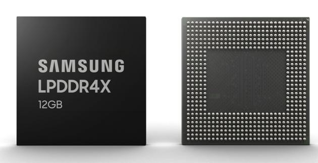 Samsung produce DRAM LPDDR4X da 12GB in massa per smartphone premium