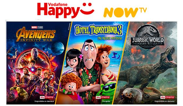 Vodafone Happy Friday oggi 15 marzo regala 4 mesi di Ticket Cinema NOW TV