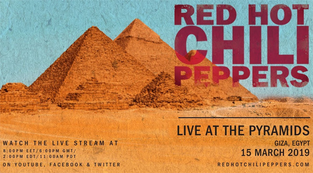 Red Hot Chili Peppers in Concerto tra le Piramidi di Giza: diretta streaming su Facebook, Youtube e Twitter: come guardarlo