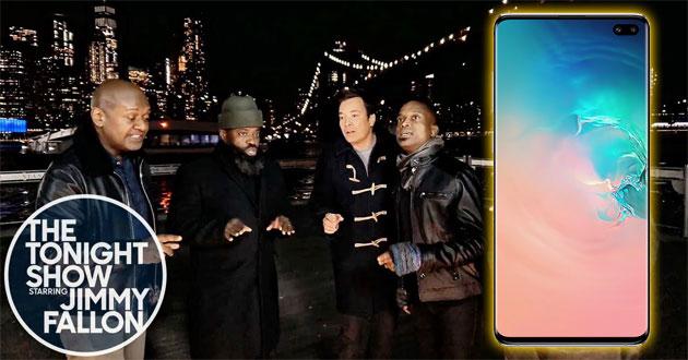 Con un Samsung Galaxy S10+ la NBC ha girato una puntata del Tonight Show con Jimmy Fallon