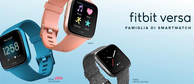 Fitbit Versa Lite, smartwatch per benessere e forma fisica con funzioni base