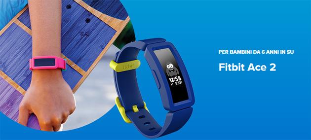 Fitbit Ace 2,Tracker di attivita' per bambini da 6 anni in su