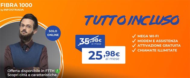 Wind Fibra1000 Unlimited: Internet dentro e fuori casa e chiamate illimitate a 25,98 euro al mese