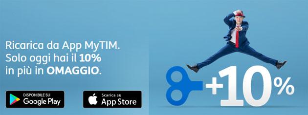 TIM regala bonus Ricarica su App MyTIM oggi 16 Aprile