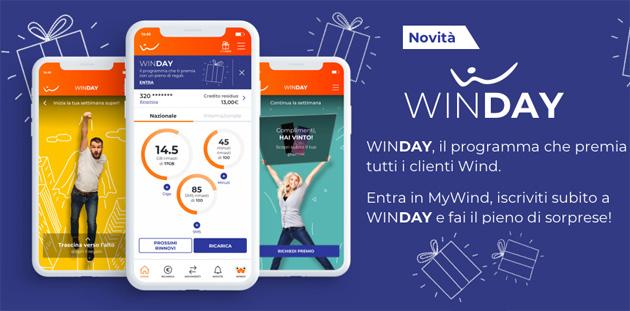 WinDAY: come funziona il programma che premia i clienti Wind con regali, da minuti e giga Extra a voucher Cinema