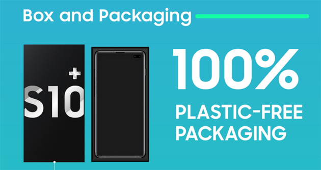 Samsung, confezioni Eco-Friendly senza plastica da Galaxy S10