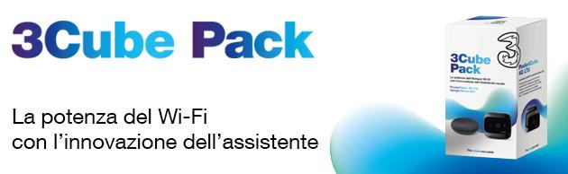 3Cube Pack, PocketCube 4G con 80 giga al mese e Google Home Mini e PocketCube inclusi