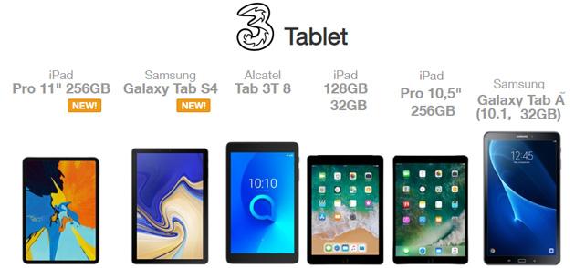 3, i Tablet che si possono acquistare con Offerta abbinata