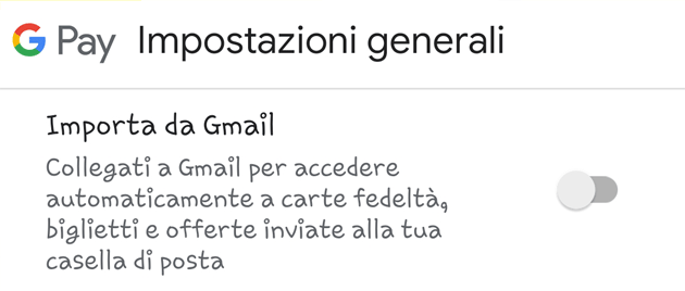 Foto Google Pay, come importare i dati da Gmail