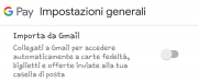 Google Pay, come importare i dati da Gmail