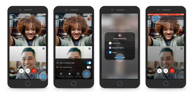 Skype testa la condivisione dello schermo