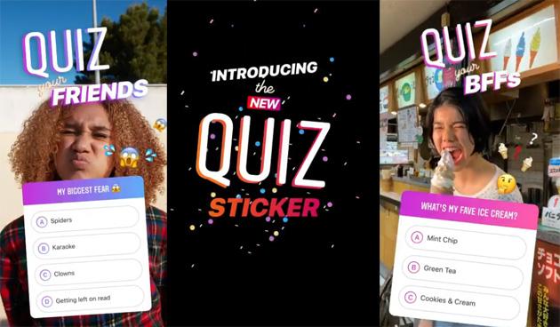 Instagram, come usare adesivo Quiz per fare domande a risposta multipla