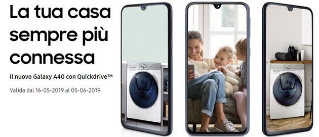 Samsung Galaxy A40 in regalo con Quickdrive: come aderire alla promozione