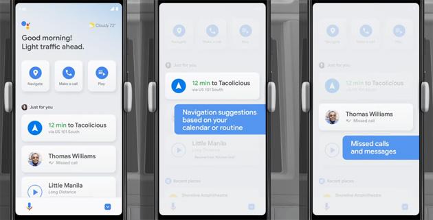 Assistente Google, nuova Modalita' Auto con cruscotto a comando vocale
