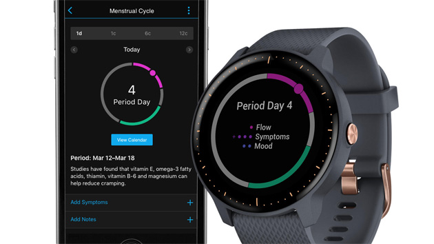 Foto Garmin Connect monitora la salute femminile