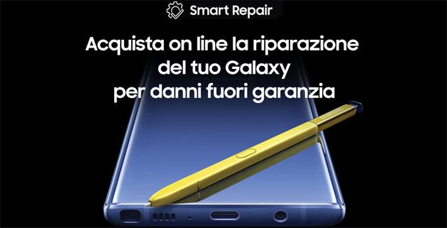 Samsung Smart Repair, servizio per fa riparare lo smartphone per danni fuori garanzia con acquisto online