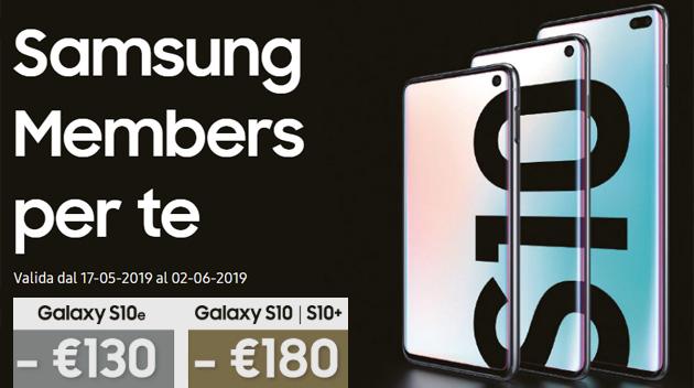Samsung premia i clienti con smartphone Galaxy che passano a S10 con fino a 180 euro di sconto
