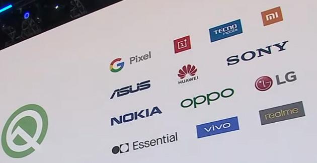Android 10 Q disponibile in beta per 21 dispositivi di 13 marchi, Samsung assente. Elenco dei primi smartphone che si aggiorneranno ad Android 10 Q