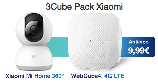 3Cube Pack Xiaomi: modem WiFi 4G e videocamera di sicurezza insieme da 9,99 euro al mese