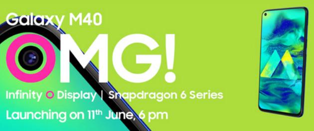 Samsung Galaxy M40 ufficiale con display Infinity-O, Snapdragon 675, Screen Sound e 6GB RAM