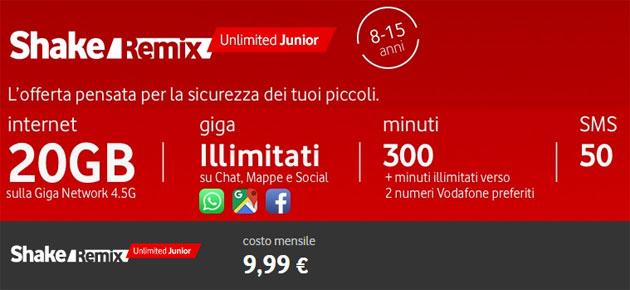 Shake Remix Unlimited Junior, offerta ideale per bambini tra 8 e 15 anni