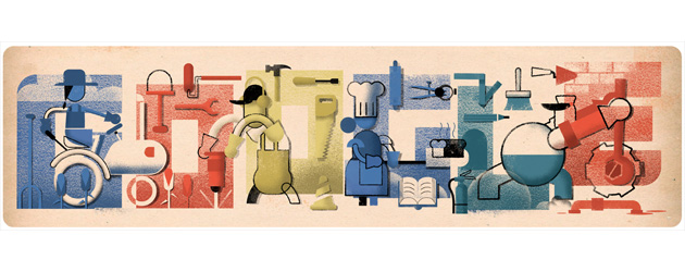 Google doodle per La Festa del Lavoro 2019
