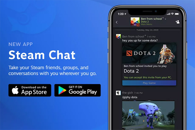 Foto Valve Steam Chat app per iOS e Android disponibile