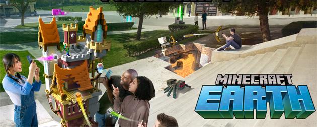 Minecraft Earth annunciato per iOS e Android, Minecraft prende vita nel mondo reale grazie alla AR