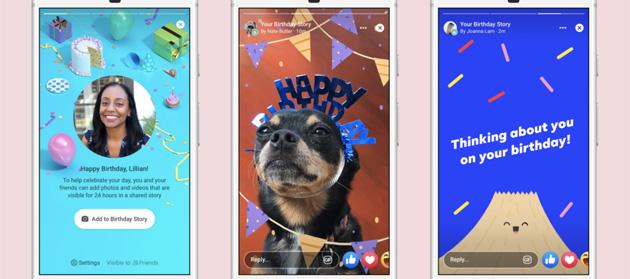 Facebook lancia le Storie di Compleanno