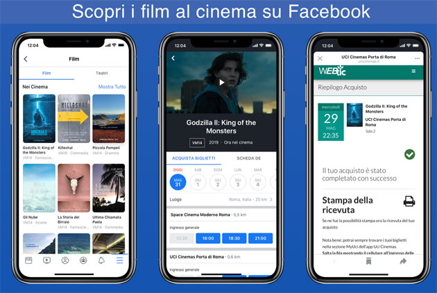 Foto Facebook Film in Italia: come funziona