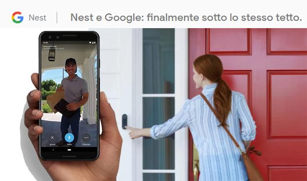 Nest e Google ora  sotto lo stesso tetto